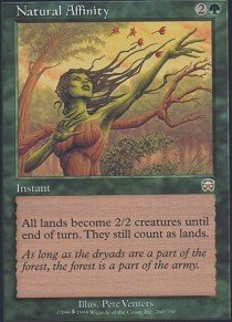 - Magic: the Gathering - Natural Affinity - Mercadian Masques - Foil