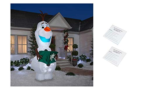 Gemmy Frozen Olaf Giant 10.5 Foot Projection Animated Airblown Inflatable with Bonus Repair Patch Kit (Decorations Outdoor Frozen Christmas)