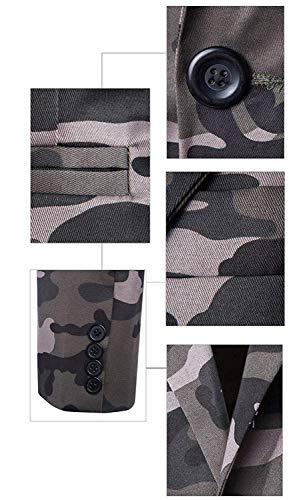 Hommes Gr 54 Camouflage Festif Confortables Affaires Tailles 48 Blazer Mode Veste Casual Fit Loisirs Slim Grau Costume FnwBqxg