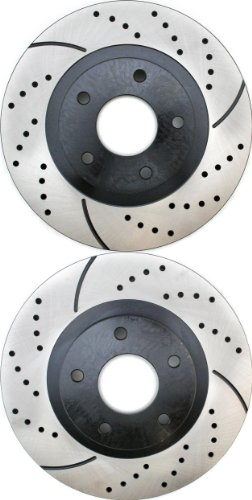 Prime Choice Auto Parts PR41308LR Drilled and Slotted Performance Rotor Pair for Front