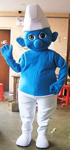 Handmade Smurf Mascot Costume Adult Costume