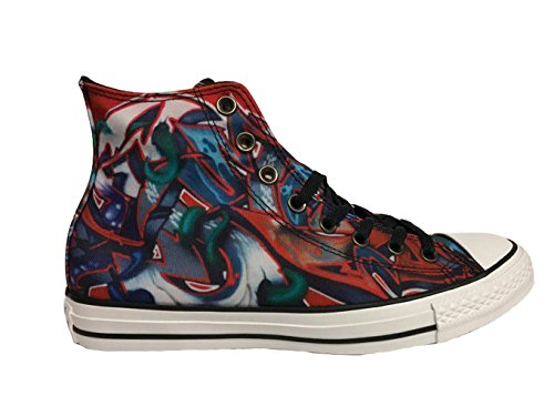 Converse All Star Hi Top Multi / Svart / Hvit Menns 5 / Kvinner 7