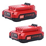 Biswaye 2 Pack 20V 2500mAh Replacement Battery for Craftsman V20 Lithium Ion Battery CMCB202 CMCB204, Compatible Craftsman V20 Cordless Drill Combo Kit CMCK200C2 CMCD700C1 (Only for V20 Series)