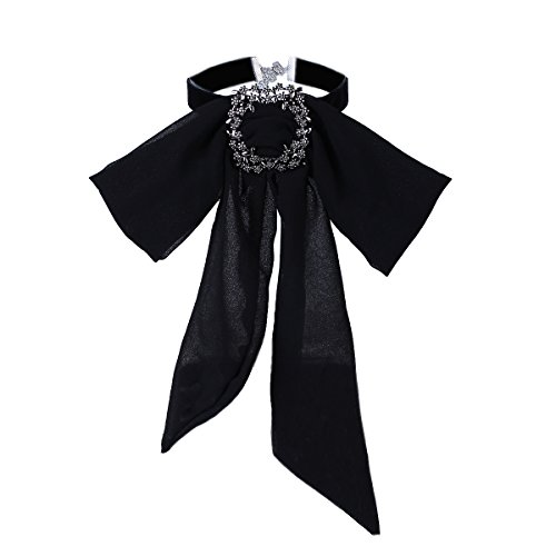 Teniu Chiffon Collar Necklace Shirt Bow Choker Necklace Custome Jewely Neckalce for Women Girls(Valentines Day Gift)