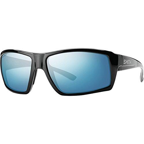 Smith Optics Challis Sunglasses, Black Frame, Polar Blue Mirror Techlite Glass - Glasses Mens Smith