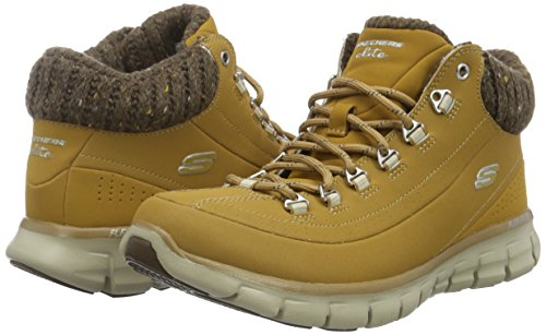 Synergy Nights wtn nbsp;winter Brown Ankle Boots Skechers Women's wtz5pp