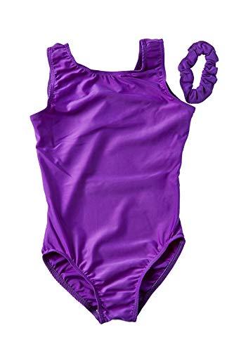d5d001d3 DESTIRA Eggplant Lycra Leotard for Girls Gymnastics, Child L/Size 10