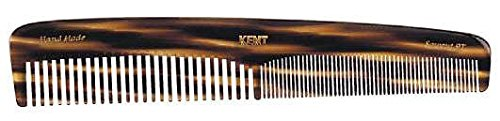 Kent - The Handmade Comb - Coarse and Fine Toothed Comb Sawcut 9T, Large, 192 mm by Kent