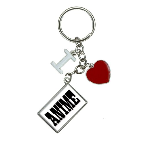 Anime I Heart Love Keychain Key Ring (I Heart Anime)