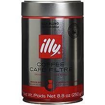 Illy Caffe Normale Drip Medium Roast Ground Coffee 8.8 Oz (Pack of 2)