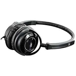 MEE audio HT-21 Portable Travel Headphone with Swivel Cups and Lightweight, Adjustable, Foldable Headband - Black (2nd Generation)