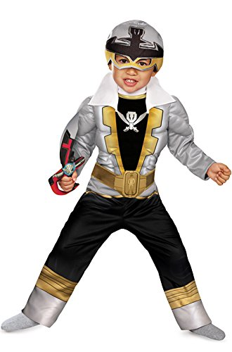 Special Ranger Silver Super Megaforce Toddler Muscle Costume - Samurai Ranger Costume