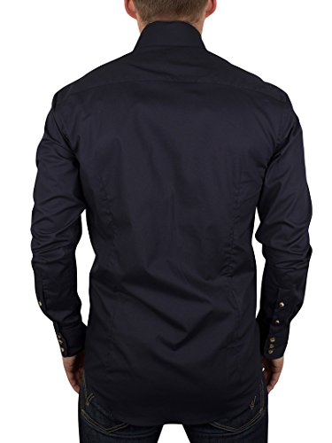 Guide London - Chemise habillée Homme - LS.72757, Bleu (Navy), Small