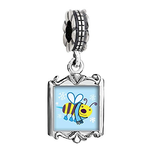 Charms Baby Bee (Cartoon Theme Family Mom & Baby Girl & Dad Dangle Bead Charm Bracelet Beads, Bee Cool)