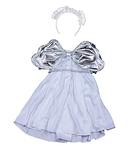 Stuffems Toy Shop Silver Angel Dress Teddy Bear Clothes Outfit Fits Most 14