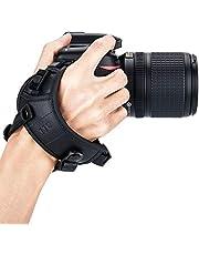 JJC Deluxe Camera Hand Grip Strap for Canon EOS 6D Mark II 5D Mark IV III 7D 90D 80D 2000D Rebel T8i T7i T6i T7 T6 Powershot SX70 Nikon D750 D780 D850 D500 D7500 D7200 D5600 D3500 Coolpix P1000 & More