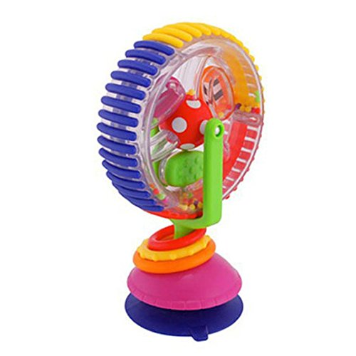 E-SCENERY Wonder Wheel Rattle Activity Center, Ferris Wheel Handle Musical Developmental Instrument Toy -