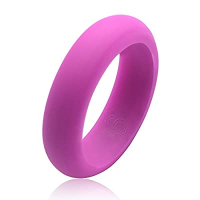 Trasfit 6mm Women's Silicone Wedding Ring Made of Hypoallergenic Medical Grade Silicone Work for the Active Lifestyle - Always on and Showing Your Commitment