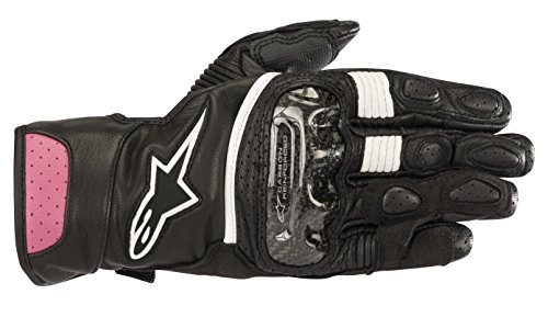 Stella SP-2 v2 Leather Motorcycle Riding Glove (S, Black Fuchsia)