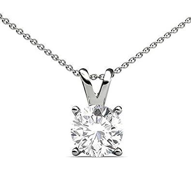 Abelini 110 carat certified 100 natural round solitaire diamond abelini 110 carat certified 100 natural round solitaire diamond pendant necklace for women aloadofball Gallery