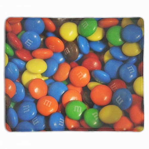 Mms Mouse - Mouse Pad Quality Comfortable Mousepad with Nonslip Rubber Base Computer Gaming Mouse Pad with MMS Dragee Sweets Sweet Mouse Mat 9.8