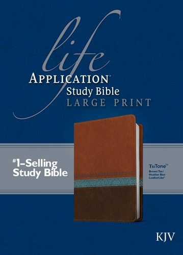 KJV Life Application Study Bible, Second Edition, Large Print (Red Letter, LeatherLike, Blue/Brown/Tan)