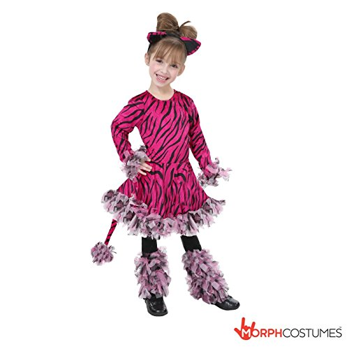 Pink Tiger Costume Small 4 - 6 Years