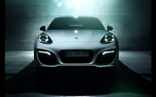 2014 Techart Porsche Panamera Turbo Grandgt 36X48 Poster Banner - Turbo Banner