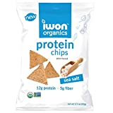 Cheap iwon organics Sea Salt Flavor Snack Chips, High Protein and Organic, 8 Bags, 1.5 Ounce