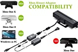 Kinect Adapter for Xbox One S Xbox One X Windows PC [UL Listed] Xbox Kinect Adapter Power Supply for Xbox 1S 1X Kinect 2.0 Sensor, Xbox One Kinect Adapter for PC Windows 10 8.1 8