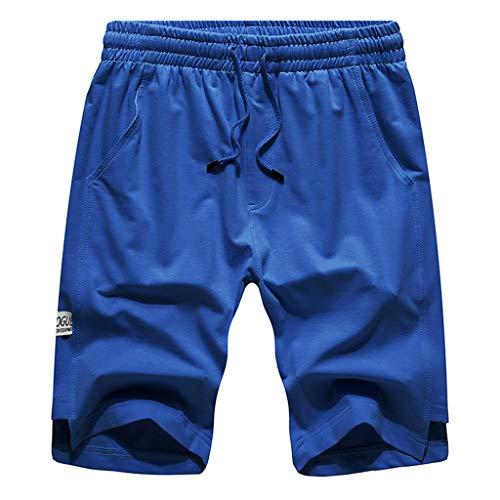 Poplin Belt Belted - Fashion Leisure Mens Pure Color Stretch Belt Belted Rope Sports Home Pants Blue