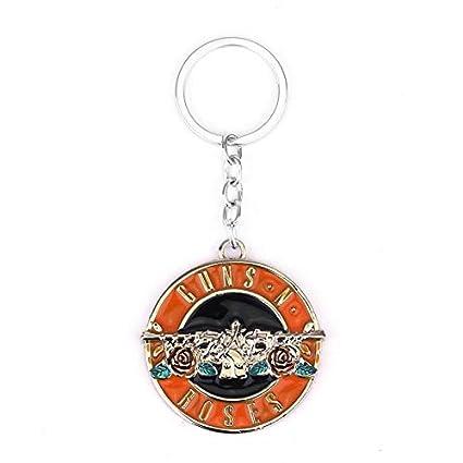 TUDUDU Rock Music GNR Guns N Roses Band Logo Metal Keychain ...