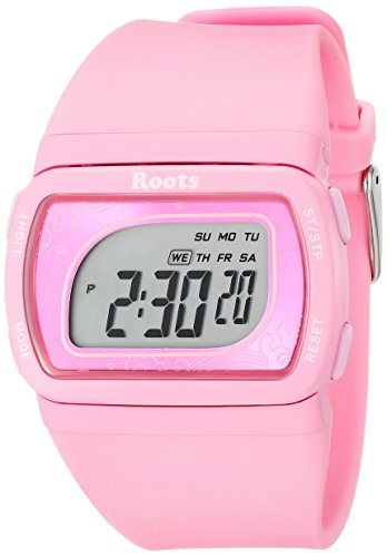 Roots Women's 1R-AT401PI1P Tofino Digital Display Quartz Pink Watch