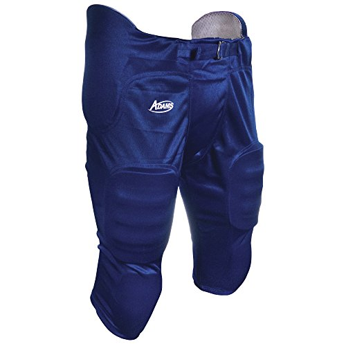 Adams USA Pro-Sheen Gameday Youth Football Pant with Integrated Pads Royal Blue, (Adams Youth Football Pant)