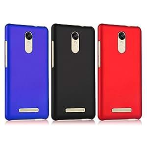 "3pcs Xiaomi Redmi Note 3 Funda , ivencase Durable Difícil Plastico Atrás Caso Carcas Delgado Piel Fit Xiaomi Redmi Note 3 (5.5"") Negro/Rojo/Azul Oscuro"