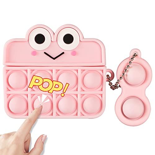 POP IT FUNDA DE SILICONA, P/ AIRPOD PRO CASE/pink frog