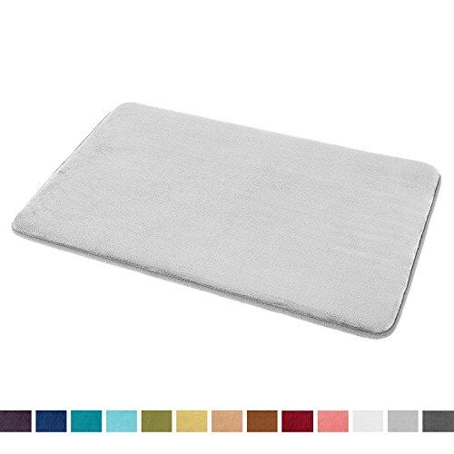 Galleon Memory Foam Bathrug Light Gray Bath Mat And Shower Rug