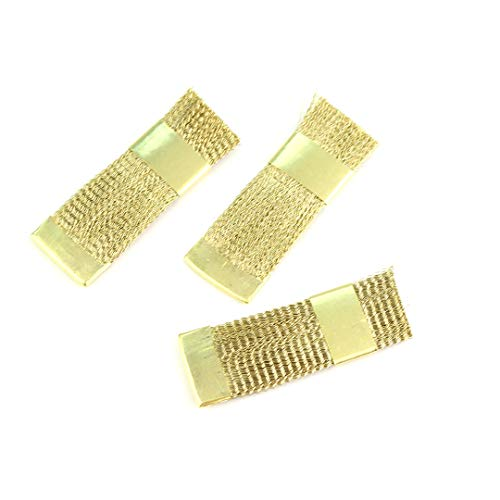Nail Art Drill Bit Cleaning Brush Gold Brass Metal Portable Wire Cleaner For Electric Manicure Drill Accessories