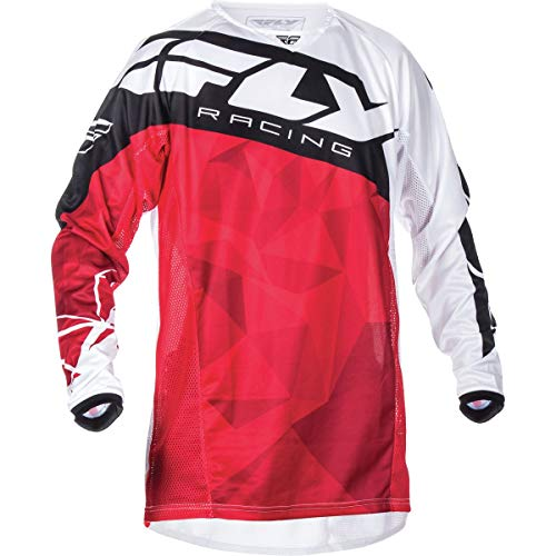 Fly Racing Unisex-Adult Kinetic Crux Jersey Red/White XX-Large