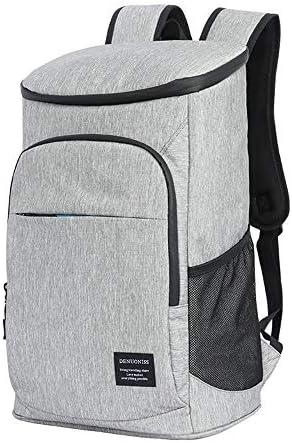 Uranbee Kühlrucksack 27L Kühl Rucksack Kühltasche Picknicktasche Isoliertasche für Wandern, Picknick, Strand, BBQ, Camping Outdoor (Grau)