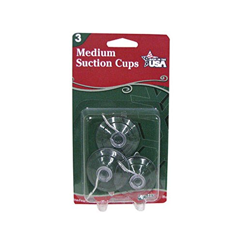 "Adams Christmas Suction Cup Hooks 1-3/4"" Plastic Clear"