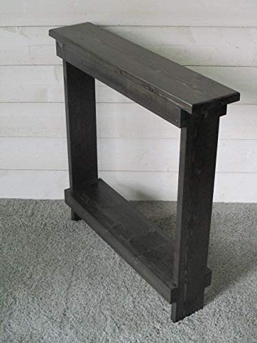 Small Accent Table Skinny Side Table Narrow End Table,Entryway Table,  Rustic Wood Hall
