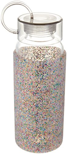 Kate Spade New York Glass Water Bottle, Multi Glitter