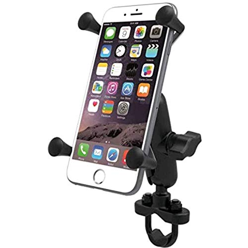 Motor Mount Cradle - Motorcycle Phone Mount Bicycle Accessories Phone Holder Detachable 360°Rotation Silicone Bike Phone Mount with U-Bolt Base Cell Phone Holder