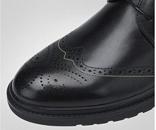 da Uomo Scarpe Lavoro d'Affari 2018 Stringate da Pelle Casual in Black Basse Bullock Scarpe Scarpe Autunno Inghilterra Intagliate Scarpe BwBgIq