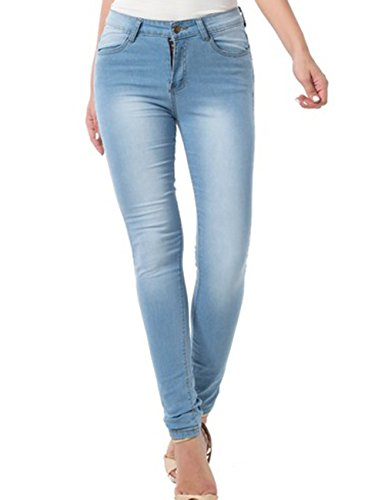 Blue Jeans for Women,Low Waist Skinny Stretch Denim Jeans (30, Light Blue 1) (For Light Women Skinny Jeans Wash)
