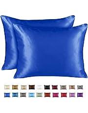 ShopBedding Luxury Satin Pillowcase for Hair – Standard Satin Pillowcase with Zipper, Brown Zebra Print (Pillowcase Set of 2) – Blissford