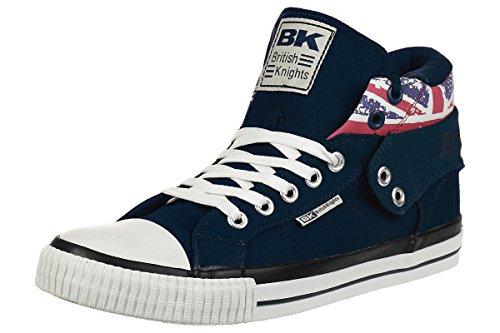 089090a2c8e5b British Knights ROCO BK Men Trainer Sneaker British Flag B41-3715-03 Navy