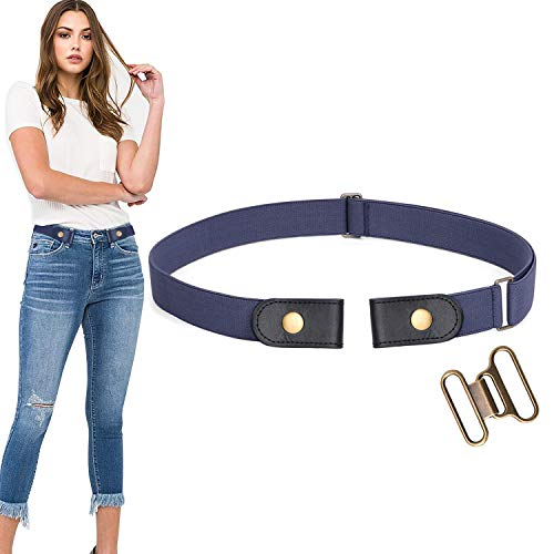 No Buckle Stretch Belt For Women/Men Elastic Waist Belt Up to 68 Inch for Jeans Pants