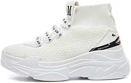 HYID Zapatillas de caña Alta para Hombre y Mujer, Suela de 5 cm de Grosor, de Punto, Transpirables, Color Negro: Amazon.es: Deportes y aire libre